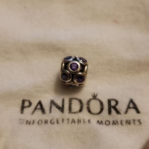 Pandora pink cubic zirconia charm
